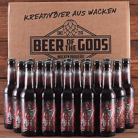 Wacken Brauerei Tyr - Pack de cervezas caseras - 18 botellas de 0,33 l de cerveza IPA de los guerreros - La cerveza de los dioses - Ganadora del World Beer Award: Amazon.es: Alimentación y bebidas