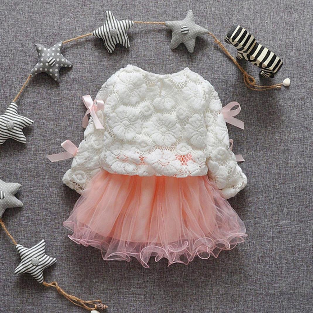 Amlaiworld Ropa bebé niña Primavera verano Vestido de princesa de tutú de  encaje de 3ffed6caea9