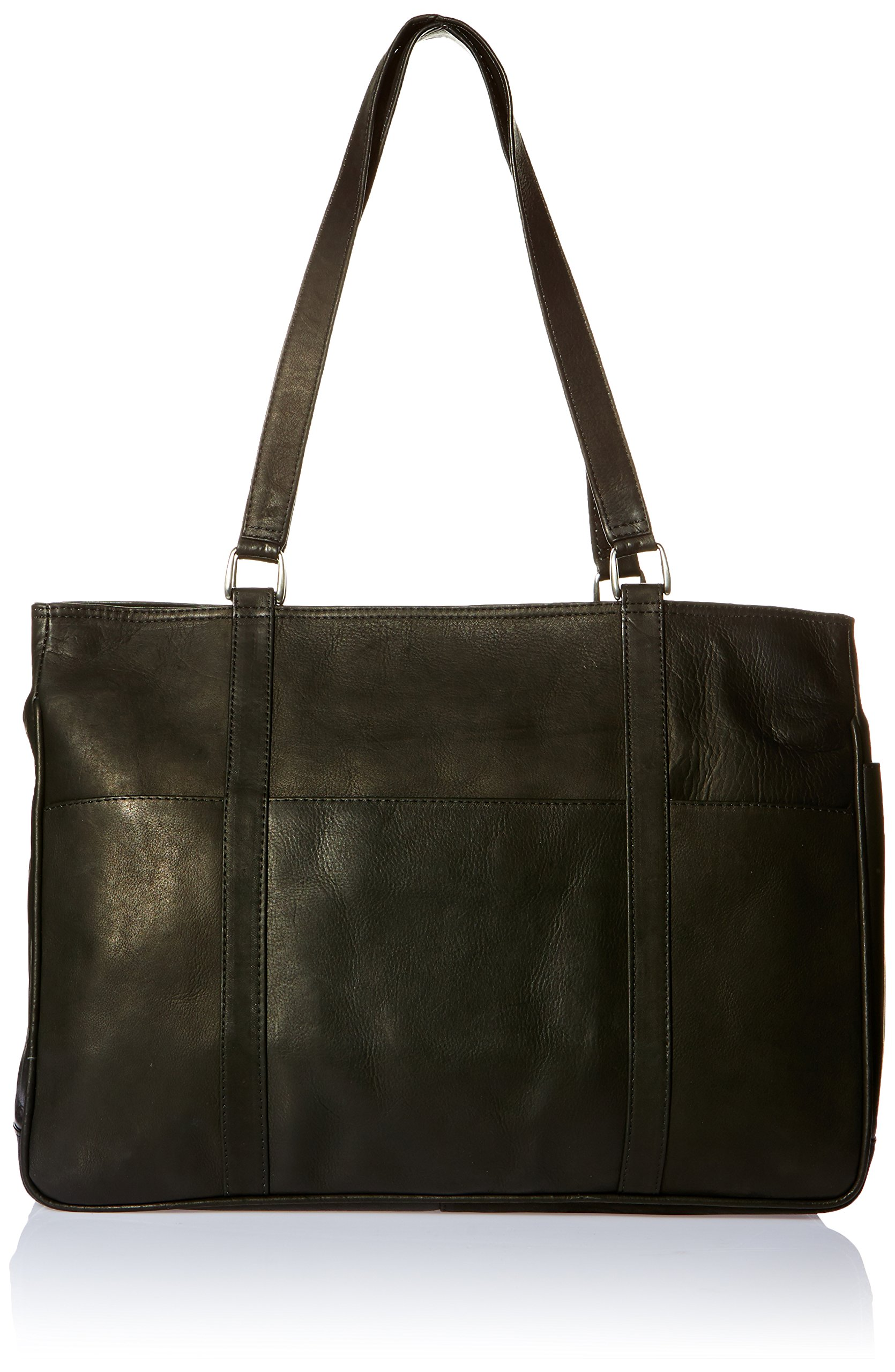 Piel Leather Large Shopping Bag, Black, One Size by Piel Leather (Image #1)
