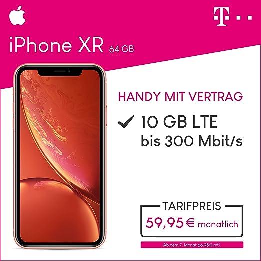 Apple Iphone Xr 64gb Speicher Handy Mit Vertrag 10gb Amazonde