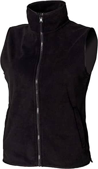 Henbury Womens/Ladies Sleeveless Microfleece Anti Pill Lightweight Jacket/Bodywarmer
