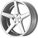 "KMC Wheels KM685 District Bright Silver Wheel With Machined Face (20x8.5""/5x114.3mm, +35mm offset)"
