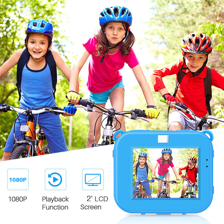 Posiveek Children Kids Camera Waterproof 100FT HD Action Camera 1080P 12MP Sports Camera Camcorder 2 inch LCD Screen (Blue) by POSIVEEK (Image #3)