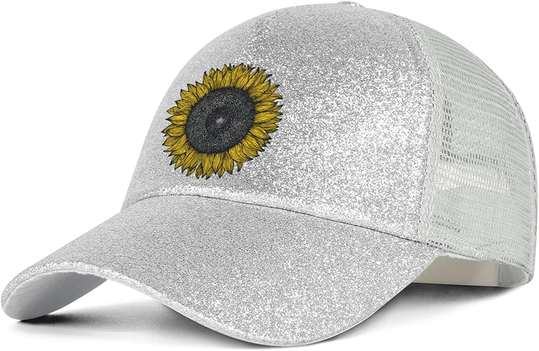 Large Summer Kansas Sunflower Unisex Sun Visors Ponytail Hats Novelty No-top Outdoor Caps