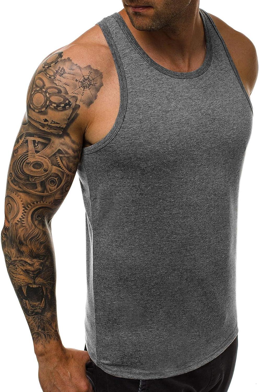 OZONEE Herren Tank Top Tanktop Tankshirt /Ärmellos Bodybuilding Shirt Unterhemd T-Shirt Muskelshirt Achselshirt /Ärmellose Training Gym Sport Fitness Freizeit Rundhals 777//6578BO