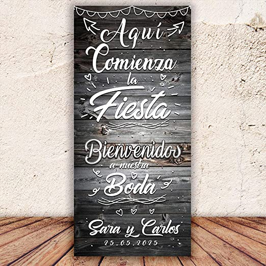 Decoración Boda | Cartel Boda Fiesta | 70cm x 150cm