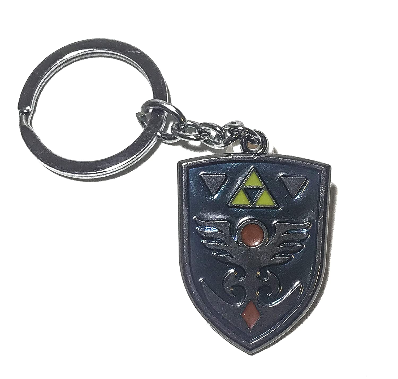 Legend of Zelda Link Keychain Hylian Shield Keyring 5559031969 DeltaHalo