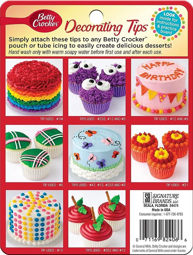 Amazon.com: Betty Crocker Decorating Tips Variety Pack: Arts, Crafts ...