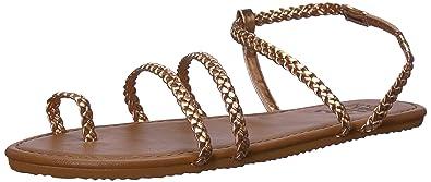 93de8b01b52e46 Billabong Women s Summer Breeze Flat Sandal Gold Pink 10 ...