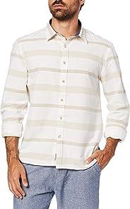 Camisa Manga Longa Striped, JAB, Masculino