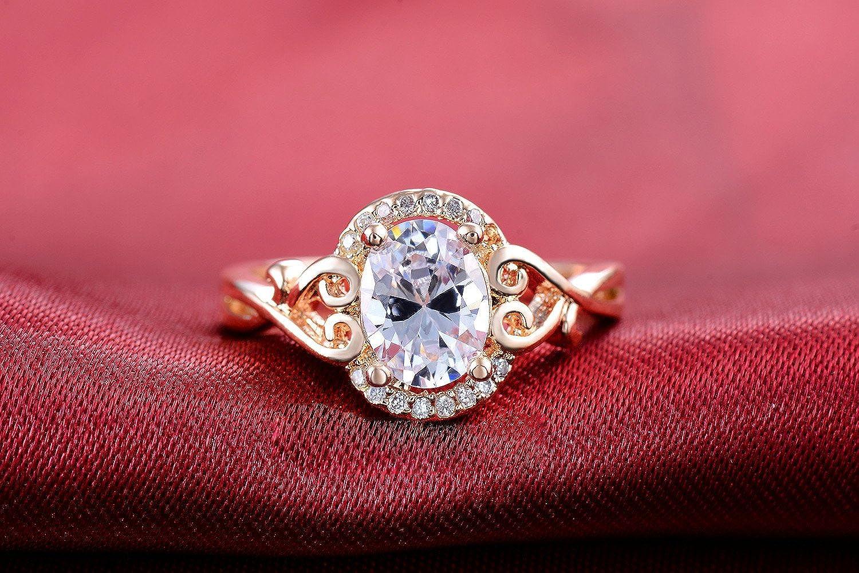Amazon.com: Superhai Contracted Fashion Terrible Shape Rose Gold ...