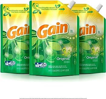 3-Pk Gain Smart Pouch Original Liquid Laundry Detergent