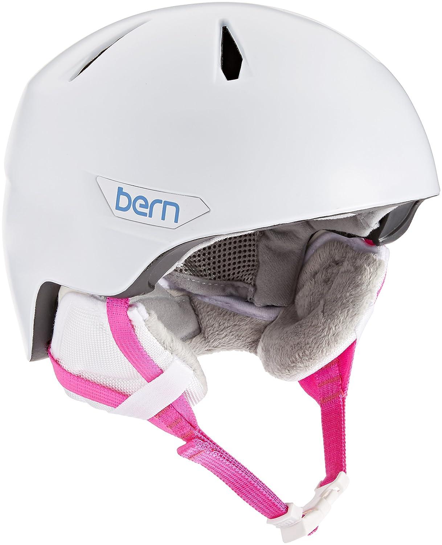 Bern 2016 / 17キッズ/ガールズBristow Jr冬雪ヘルメット B01DZNLEYO Small/Medium|サテンホワイト サテンホワイト Small/Medium