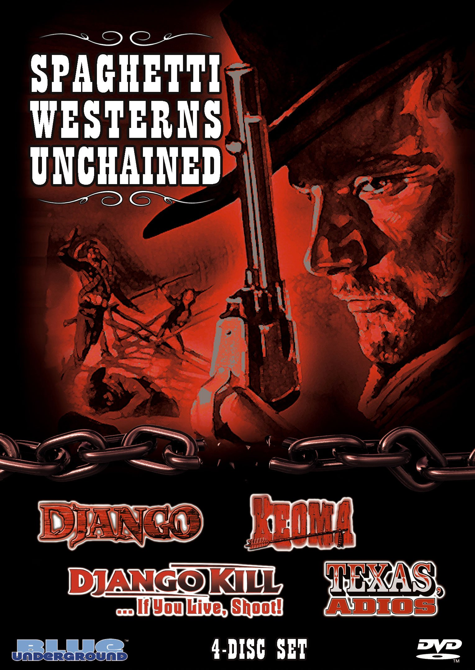 DVD : Spaghetti Westerns Unchained (Boxed Set, Subtitled, 4PC)