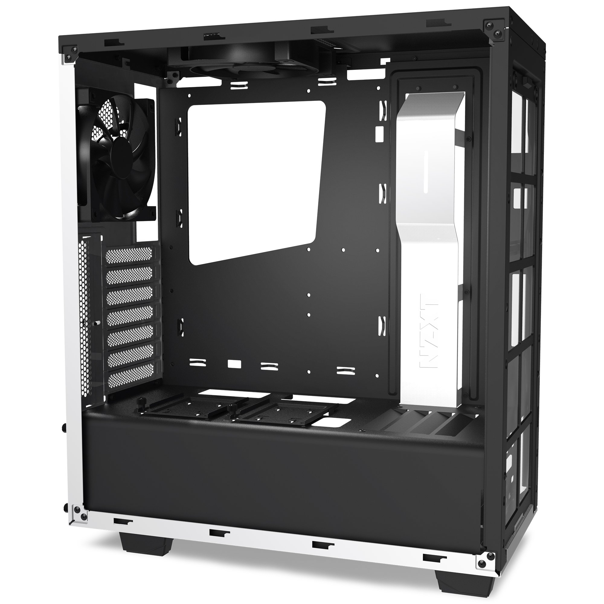 NZXT S340 Mid Tower Computer Case, White (CA-S340W-W1) by Nzxt (Image #7)