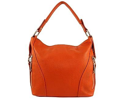 5ced4b8678 Sac à main cuir Nany Italie - Orange Foncé - Sac cuir nany sac a ...