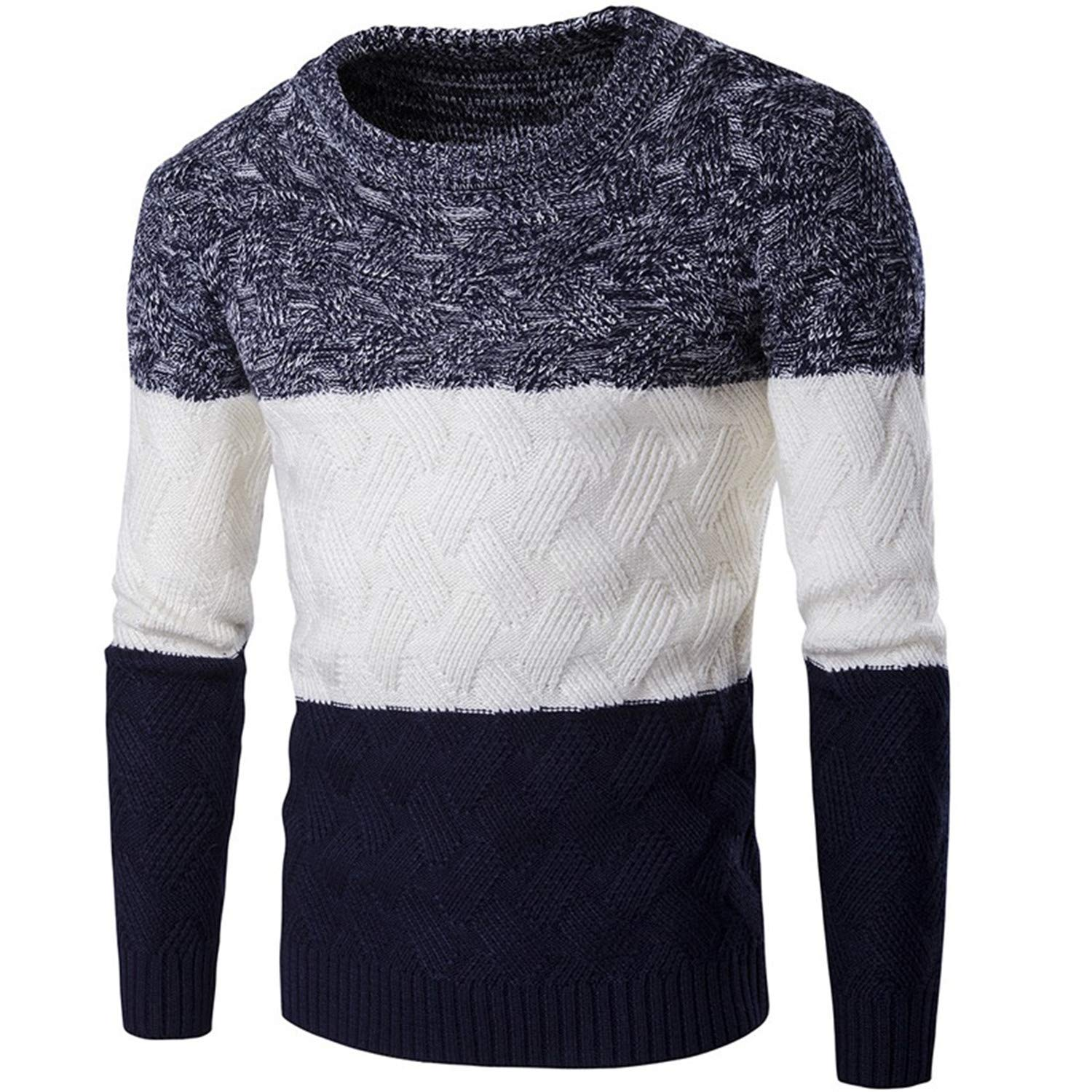 Thadensama Sweater Men Casual Pullover Men Autumn O Neck Gradient Color Quality Knitted Male Sweaters S-2Xl