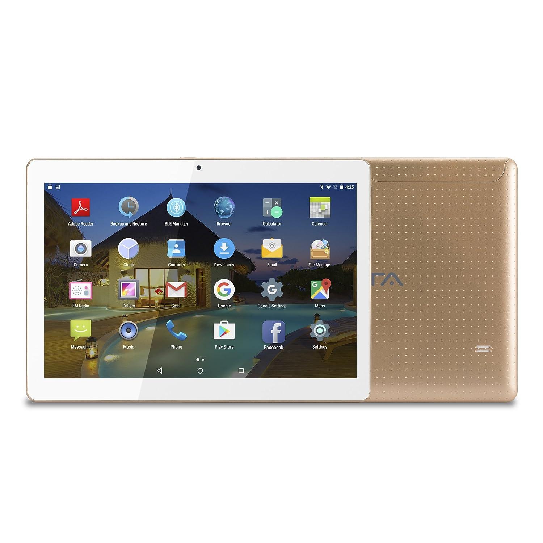 10 Pouces (10.1') Tablette Tactile BEISTA- (Android 7.0,WiFi/3G Double-SIM,Quad Core,2 Go de RAM,Disque Dur 16 Go,OTG,GPS) -Or