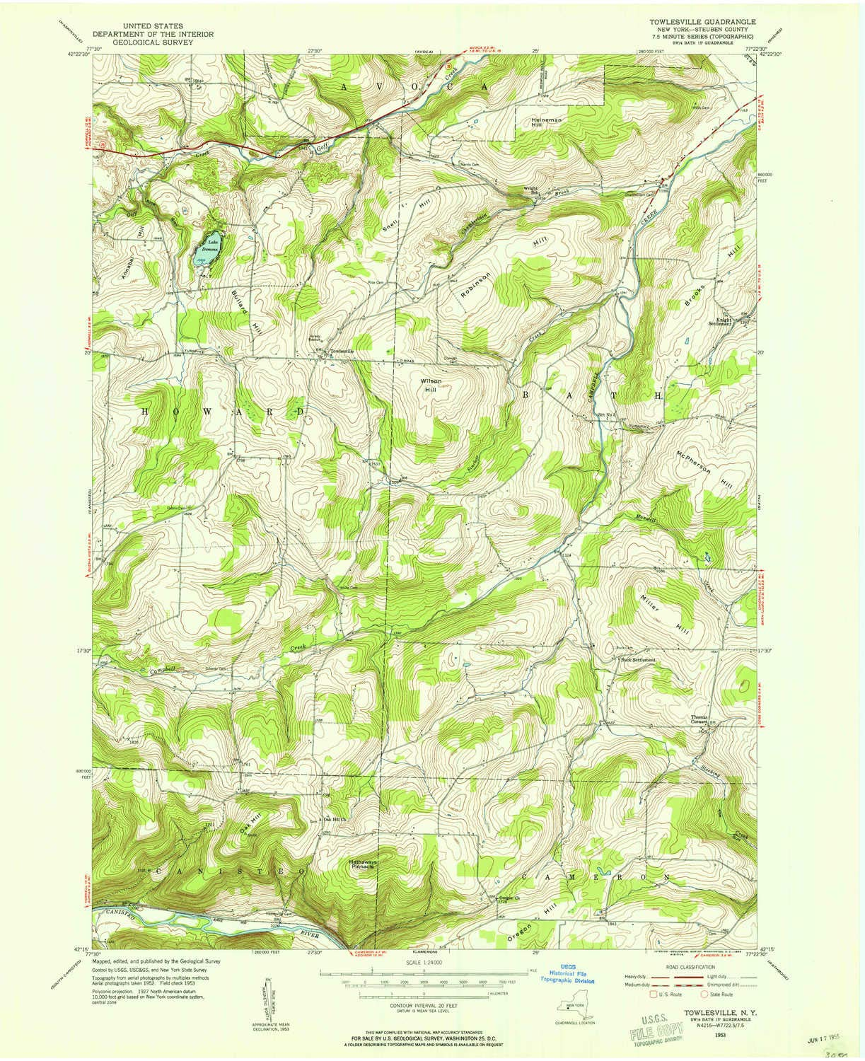 Topographic Map New York State.Amazon Com Yellowmaps Towlesville Ny Topo Map 1 24000 Scale 7 5