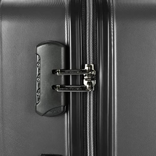 9edafc295 Amazon.com | U.S. Traveler Highrock 3-Piece Super Lightweight Hardside  4-Wheel Spinner Luggage with Diamond Cut Texture Finish, Charcoal (21