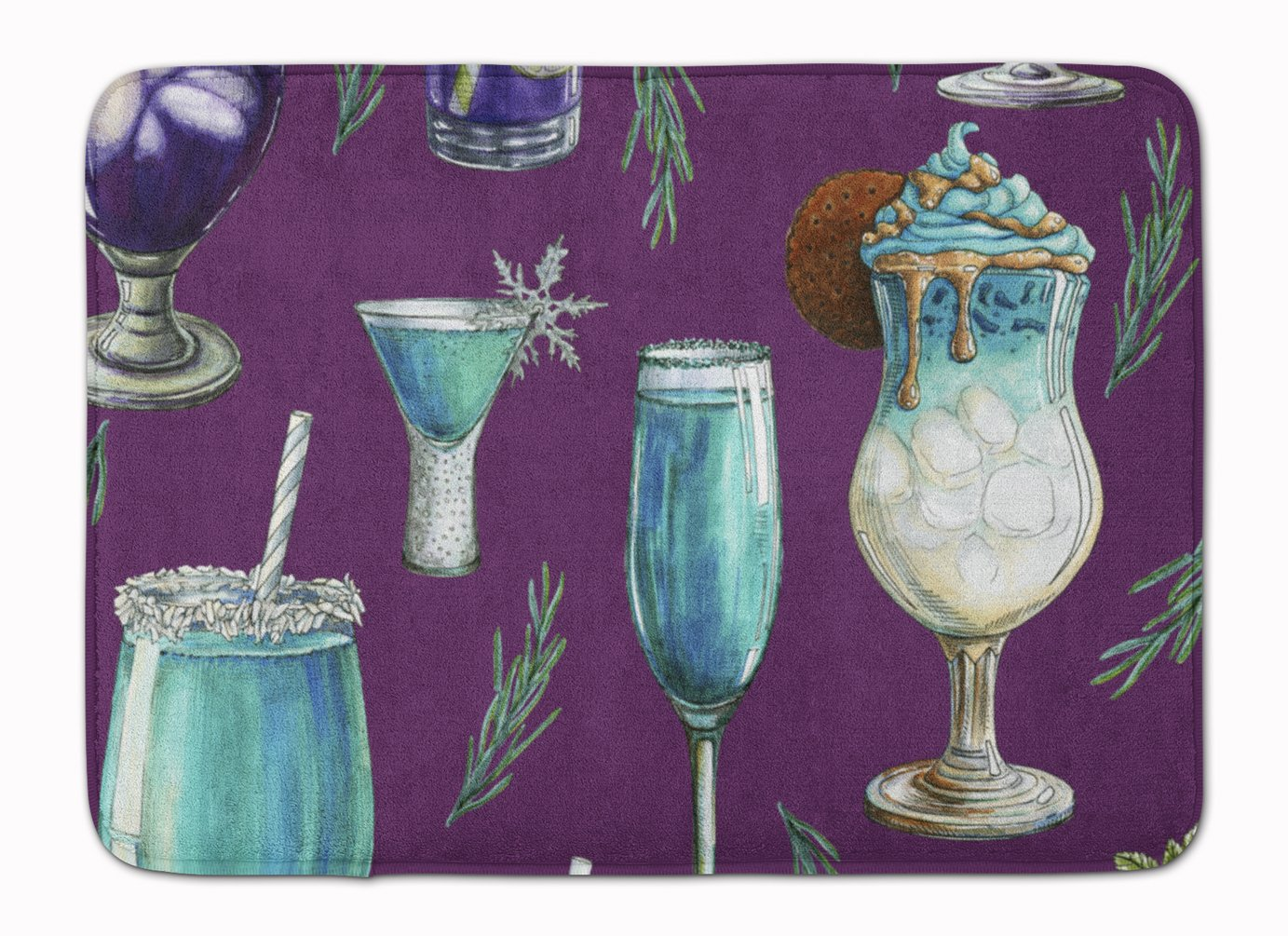 Caroline 's Treasures bb5204rug Drinks & Cocktailsパープル床マット、マルチカラー、19