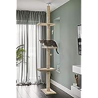 RuneSol Drapak dla kota, wysokość sufitu 240-288 cm, wysokość do sufitu, drapak stabilny, drzewko do wspinaczki, wysokie…
