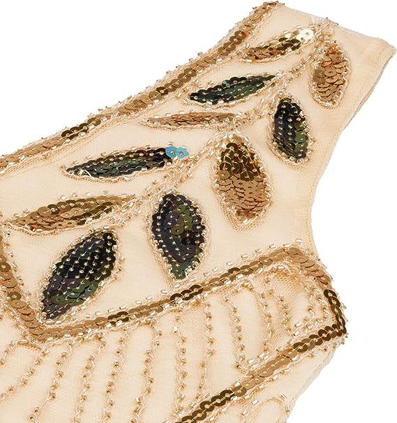 Women's 1920s Vintage Flapper Fringe Beaded Great Gatsby Party Dress
