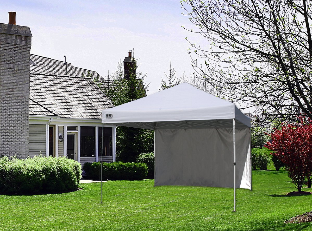 Quik Shade Commercial C100 10'x10' Instant Canopy with Wall Panel - White by Quik Shade (Image #2)