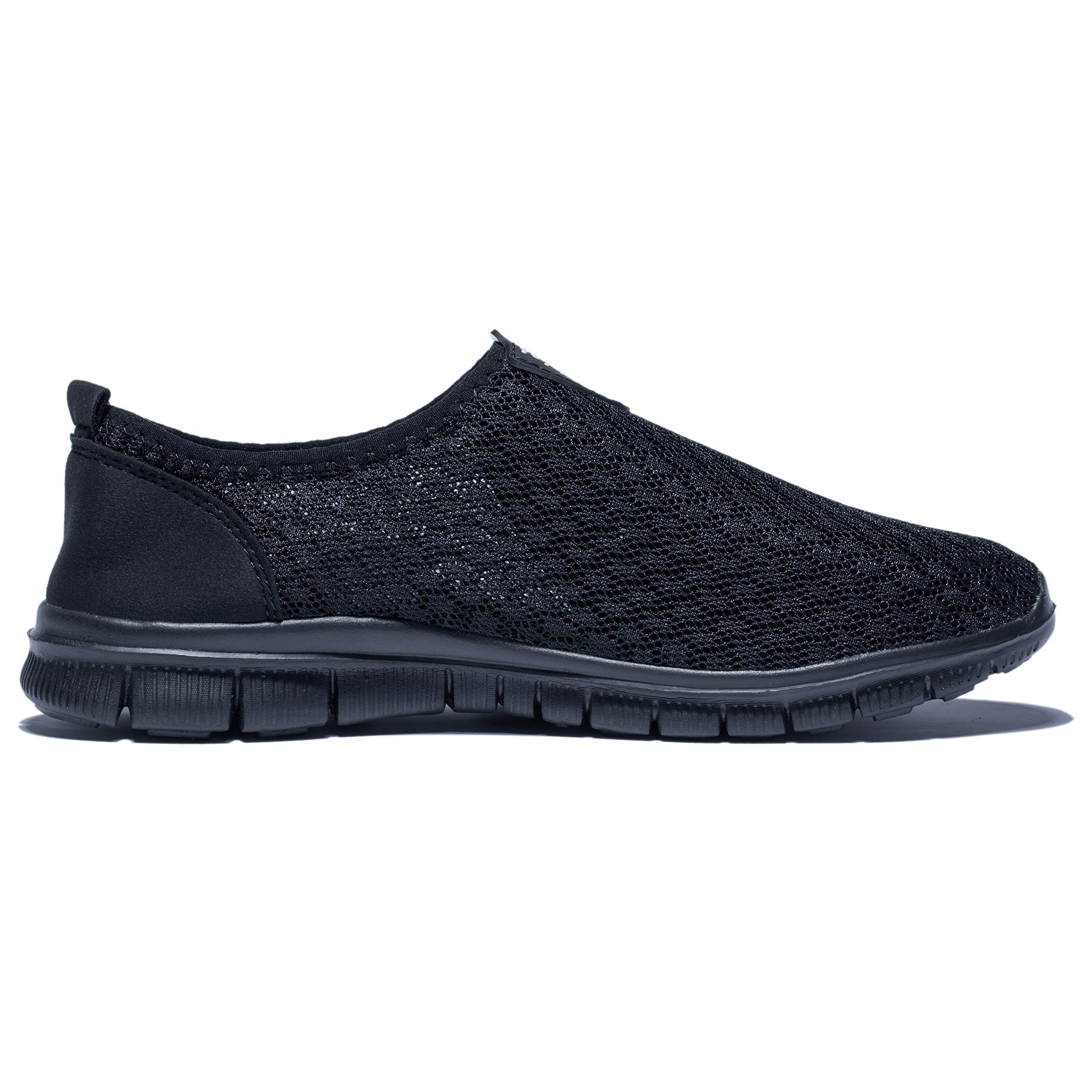 KENSBUY Mens Breathable and Durable Sports Running Shoes Lightweight Mesh Walking Sneakers (8 M US Men, Black/Black) by KENSBUY (Image #4)