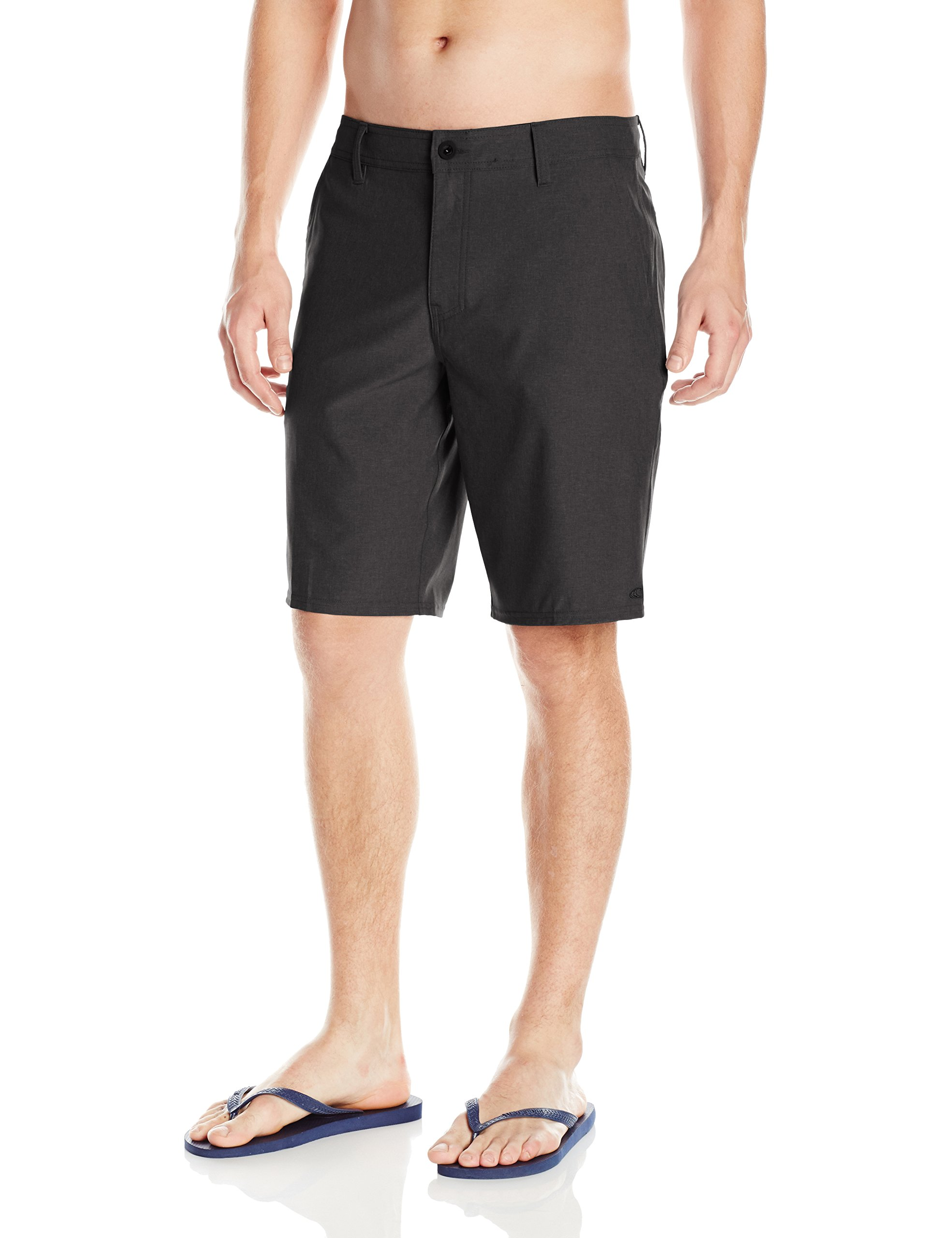 O'Neill Men's Loaded Quick Dry Stretch Hybrid Boardshort, Heather Black, 34