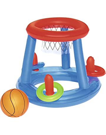 Bestway 52190 - Juego Canasta Baloncesto Hinchable Flotante para Piscina, incluye Balón Hinchable, 61