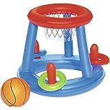 Bestway Panier de Basket flottant + ballon +cerceaux diamètre 61cm