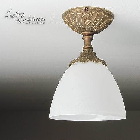 Premium - Lámpara de techo (latón antiguo estilo modernista ...