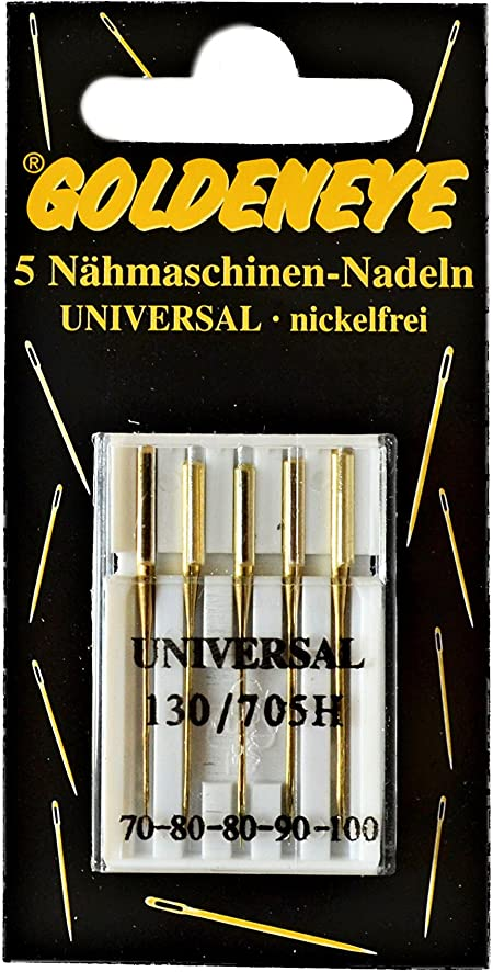 50Stück Nähmaschinennadeln Flachkolben 5 Größe Nadeln Nähmaschine Set Universal