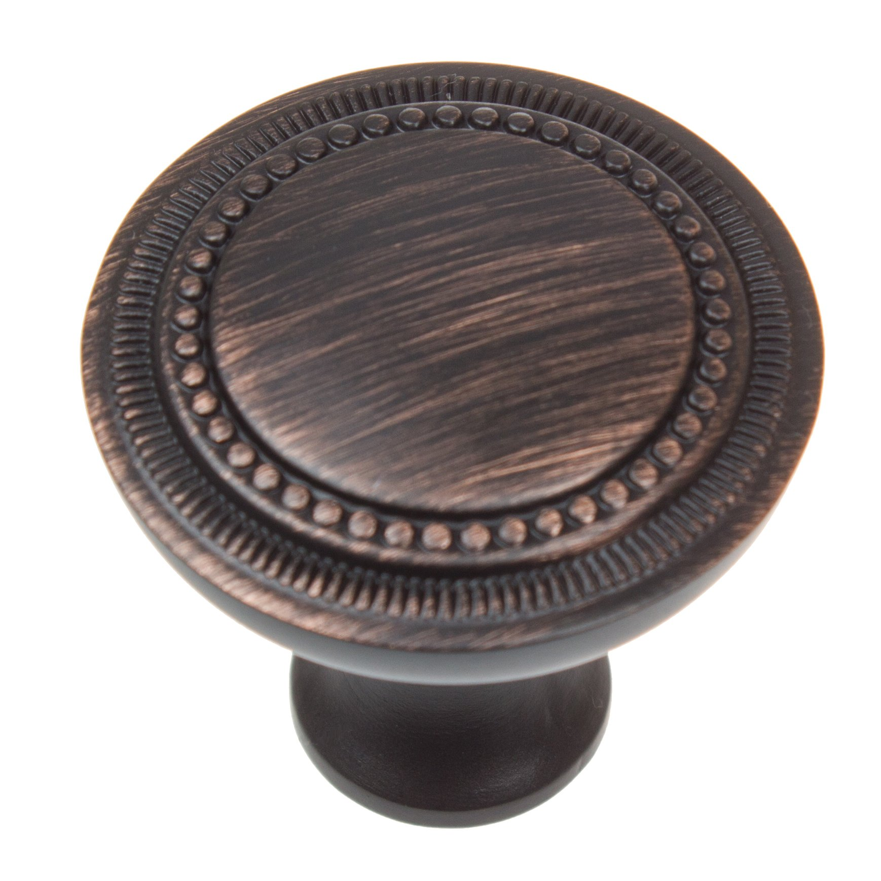 GlideRite Hardware 911036-ORB-10 Round Hammered Cabinet Knobs, 10 Pack, 1.25'', Oil Rubbed Bronze