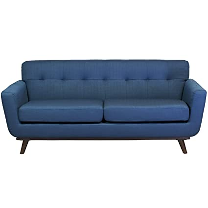 Attrayant Design Tree Home Tiffany 2 Seater Vintage Inspired Sofa, Dark Blue