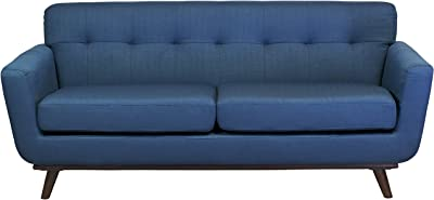 Design Tree Home Tiffany 2 Seater Vintage Inspired Sofa, Dark Blue