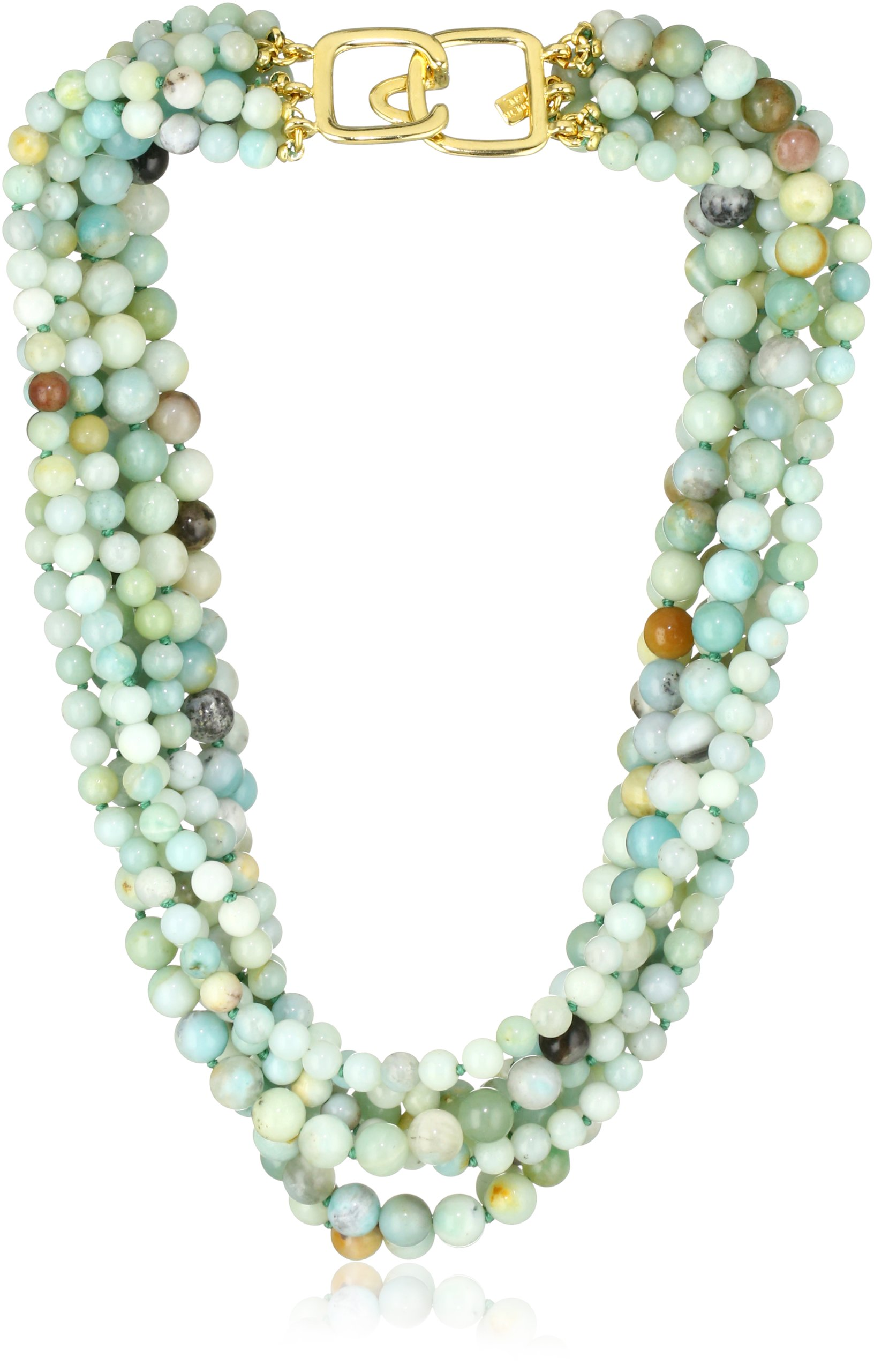 Kenneth Jay Lane 8 Row Jade Bead Necklace by Kenneth Jay Lane