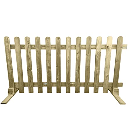 ruby portable freestanding treated wooden 6ft picket fence panel 3ft