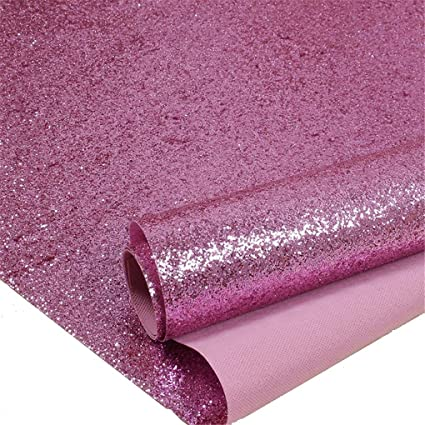 Pink Chunky Glitter Wallpaper 3d Sparkly Glitter Fabric Wall Paperbling Wallcovering Pink