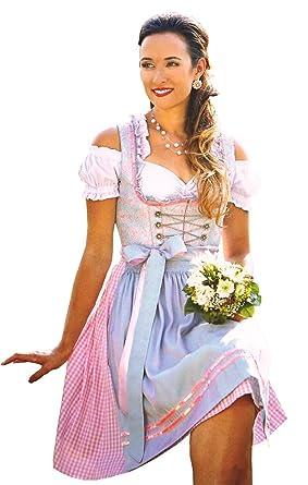 Stützle Dirndl Prinzessin 60er Länge (36, hellblau-rosa)