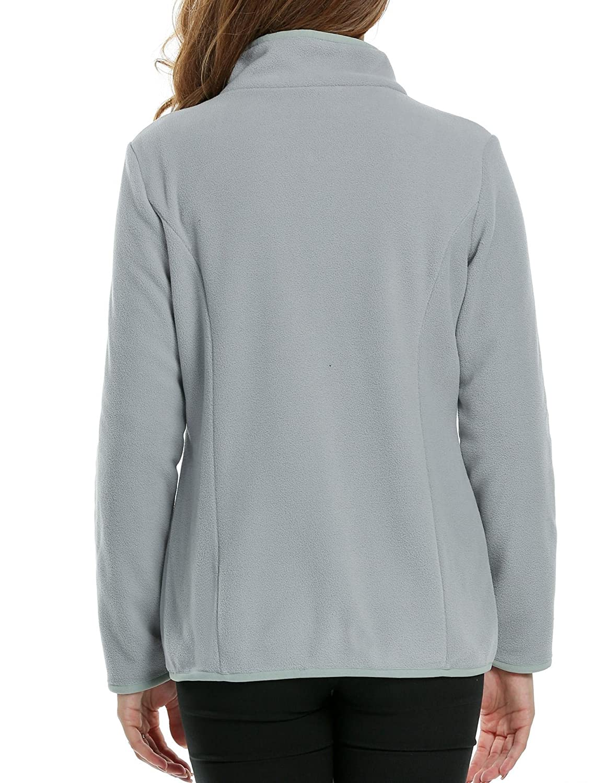 d9d496815ef Nessere Fleece Jacket Women Thin Coat for Women Simple Jackets for Women  Fleece at Amazon Women s Coats Shop