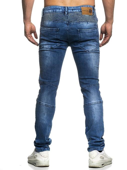 Tazzio Skinny Fit Herren Biker Style Jeans Denim 16522 Blau 32 32  Amazon.de   Bekleidung 9ac2ba8f47