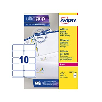 avery self adhesive address mailing labels laser printers 10