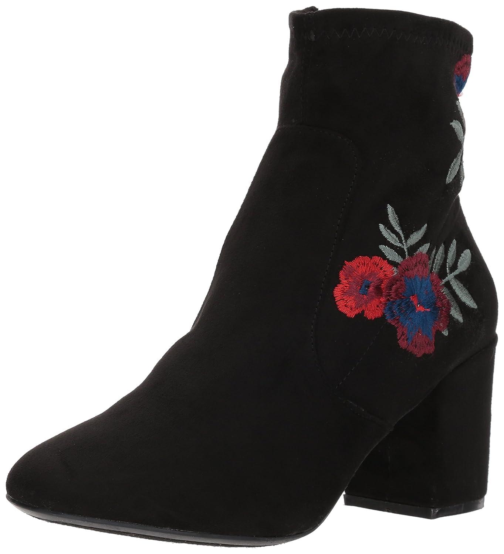 Rampage Women's Itsie Block Heel Stretch Ankle Dress Bootie Fashion Boot B076LJMHZN 6.5 B(M) US|Black Flower Embroid