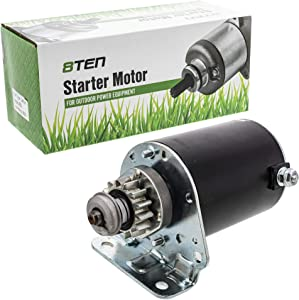 8TEN Starter Motor Assembly LG693551 For Briggs and Stratton 593934 John Deere L100 L105 L107 D100 D105 D110