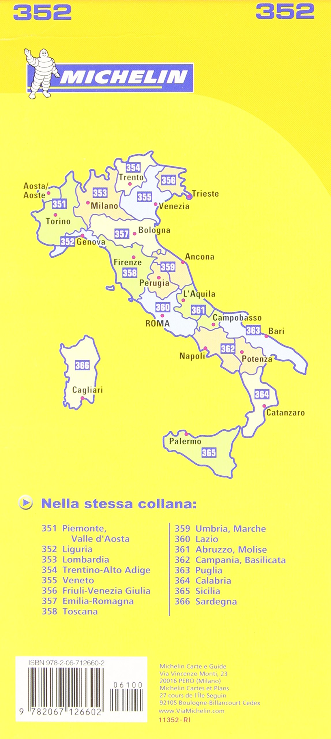 Liguria Michelin Local Map 352 Michelin Local Maps Amazoncouk