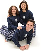 Holiday Winter Snowflake Sleepear PJs for the Whole Family Adults; Kids Playwear