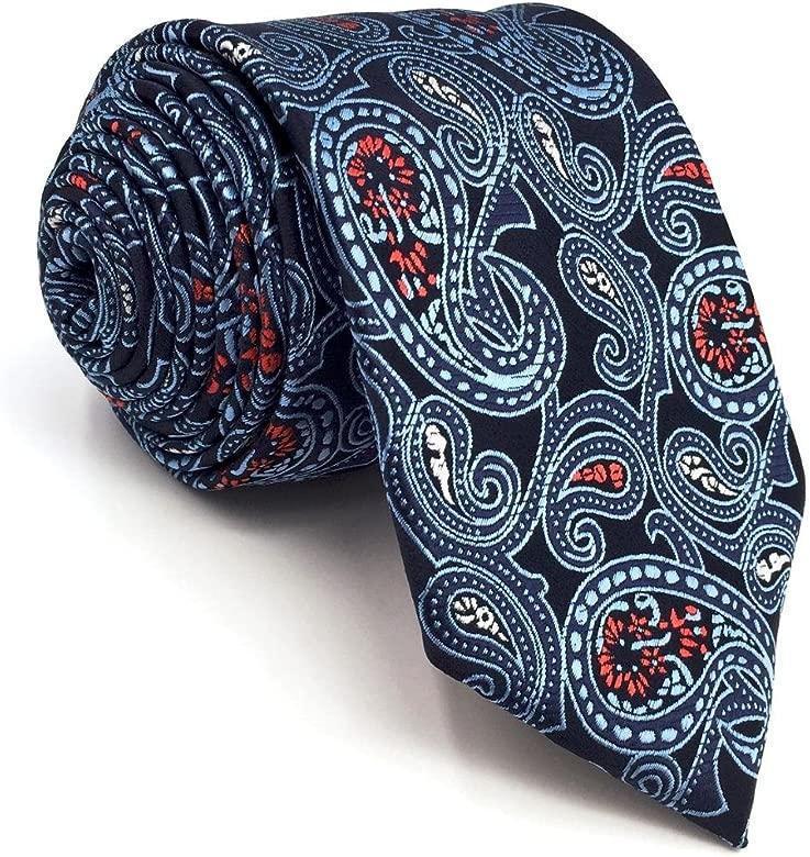 SHLAX&WING Corbatas Para Hombre Azul Multicolor Cachemir for Suit ...