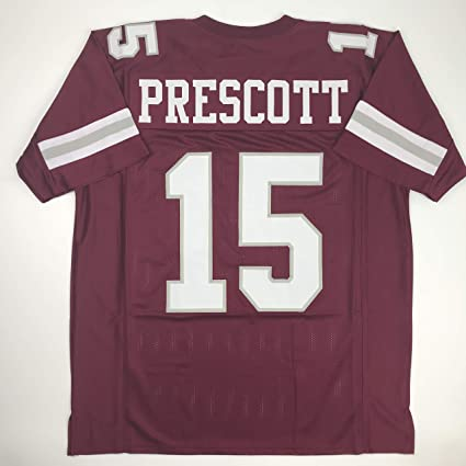 new product 518f1 10978 Amazon.com: Unsigned Dak Prescott Mississippi State Red ...